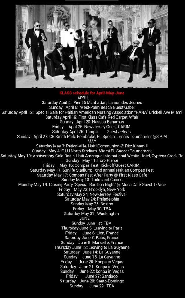 KLASS Tour Dates